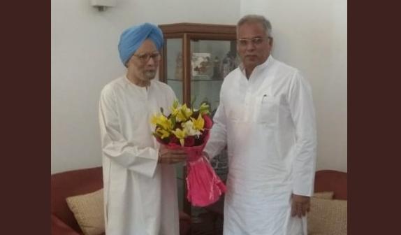 Chief Minister, Bhupesh Baghel, Manmohan Singh, Meet,