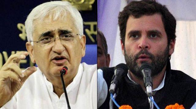 Congress leader, Salman Khurshid, Statement, Rahul Gandhi,