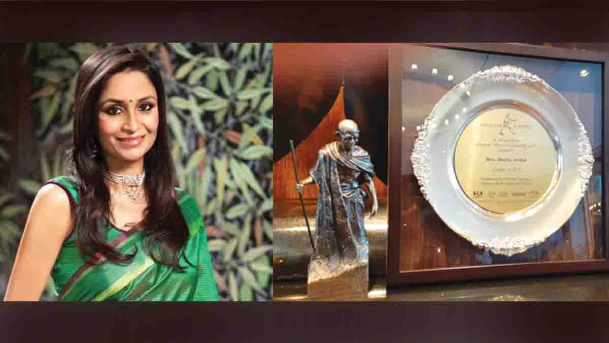 Shalu Jindal, Notable for CSR, Mahatma award,