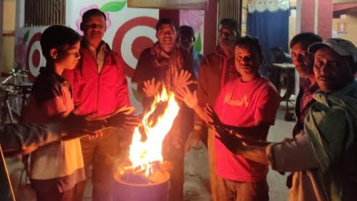 Raipur, Chhattisgarh, Cold wave in the state, Bonfire arrangement,