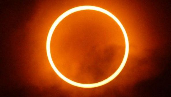 Solar Eclipse, India,
