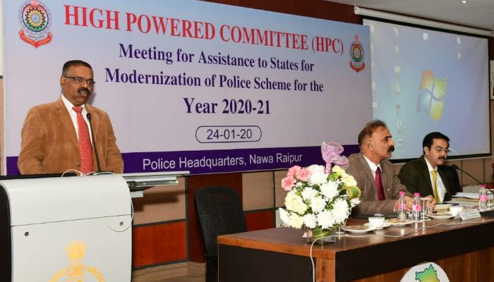Nava Raipur, Police headquarters, High power committee, Meeting,