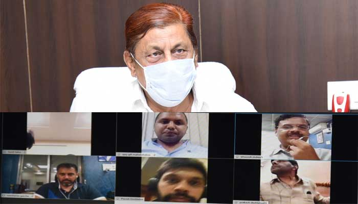 Transport Minister, Mohammad akbar, With the Bus-Truck Operators Association, Video conferencing,