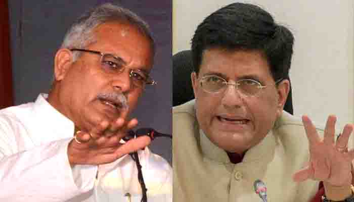 Railway Minister Piyush Goyal, Statement, Chief Minister, Bhupesh Baghel, Counterattack,