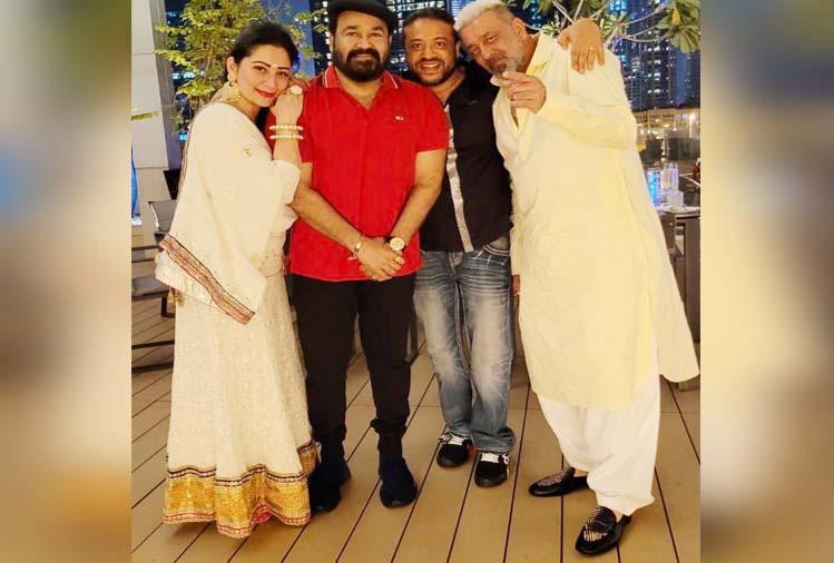 दीपावली पर साथ आए दो सुपरस्टार, मोहनलाल के साथ दिपावली मनाते दिखे संजय दत्त, देखिए तस्वीरें