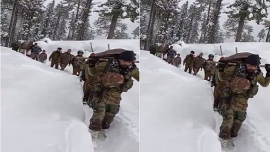 JandK: The example of humanity and duty amidst the cold and snowfall, the jawan brought the mother and newborn to the hospital walking in 4 km of snow.