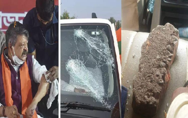 West Bangal: TMC miscreants again throw stones at BJP workers