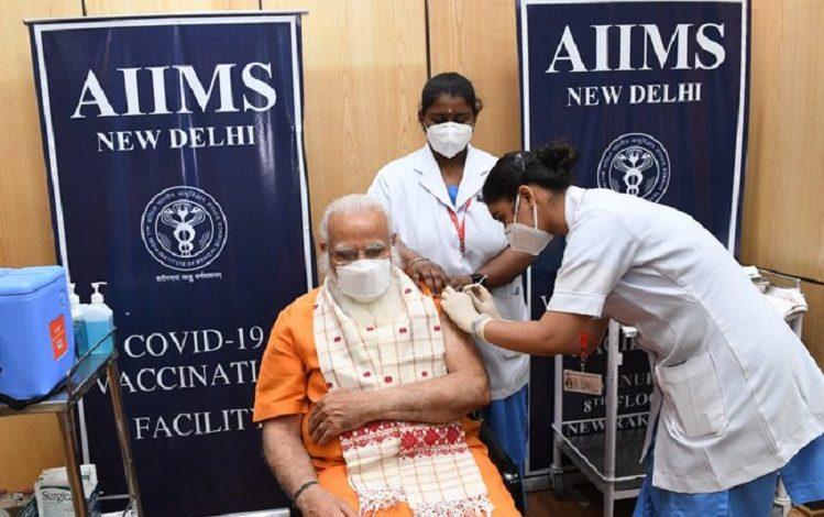 Prime Minister Narendra Modi took second dose of Corona vaccine