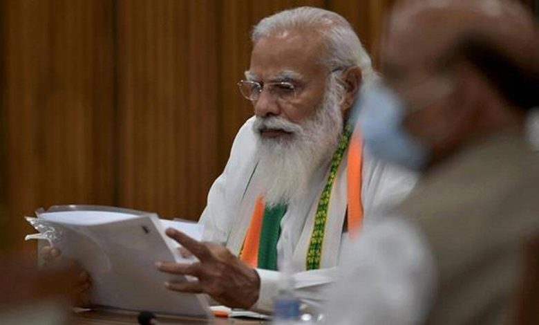 प्रधानमंत्री मोदी ने एक बार फिर कांग्रेस पर साधा निशाना