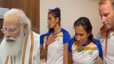 पीएम मोदी ने महिला हॉकी टीम से बात करते हुए कहा- आपका पसीना करोड़ों बेटियों की प्रेरणा बन चुका है